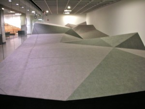 Deborah Stratman's sound installation in the Gahlberg Gallery, College of DuPage
