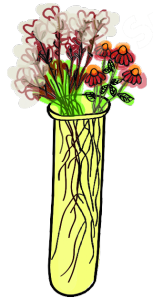 flowers in test tube art