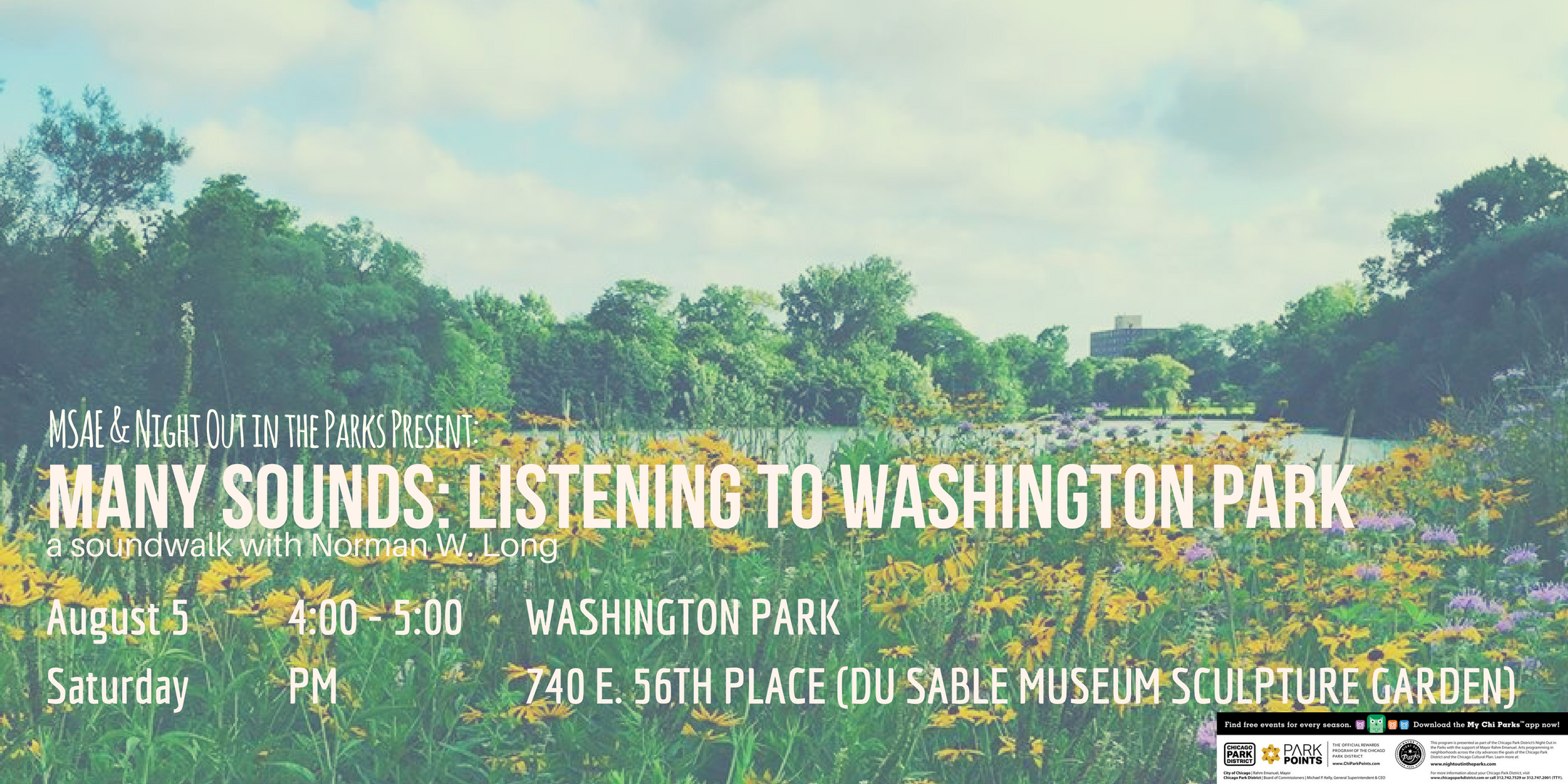 Many Sounds: Listening to Washington Park | Saturday, August 5th