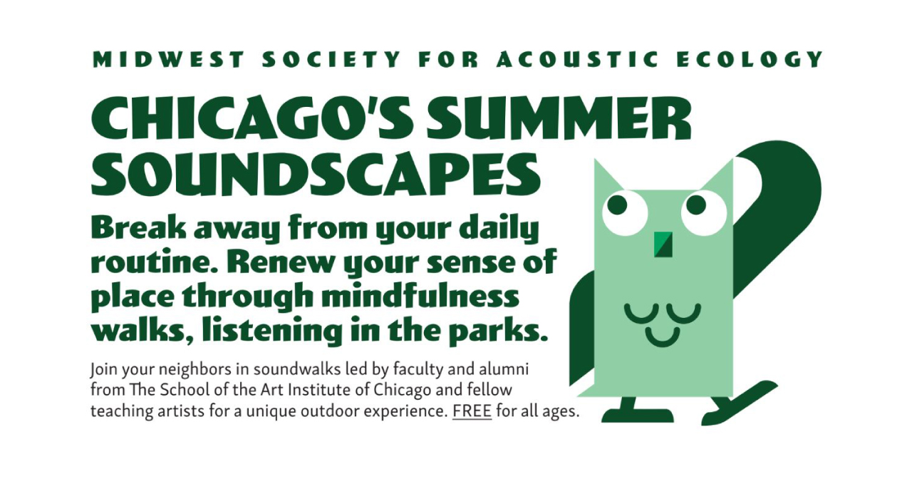 MWSAE Summer Soundwalks 2019